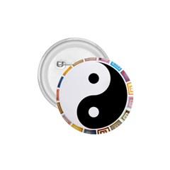 Yin Yang Eastern Asian Philosophy 1.75  Buttons