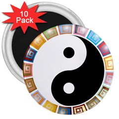 Yin Yang Eastern Asian Philosophy 3  Magnets (10 pack)