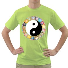 Yin Yang Eastern Asian Philosophy Green T-Shirt