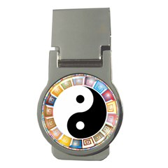 Yin Yang Eastern Asian Philosophy Money Clips (Round)