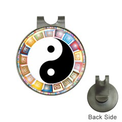 Yin Yang Eastern Asian Philosophy Hat Clips with Golf Markers