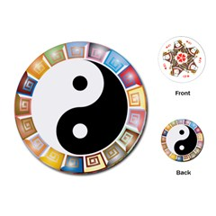 Yin Yang Eastern Asian Philosophy Playing Cards (Round)