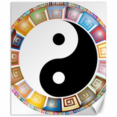 Yin Yang Eastern Asian Philosophy Canvas 8  x 10
