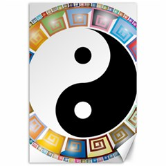 Yin Yang Eastern Asian Philosophy Canvas 24  x 36