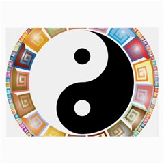 Yin Yang Eastern Asian Philosophy Large Glasses Cloth (2-Side)