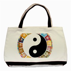 Yin Yang Eastern Asian Philosophy Basic Tote Bag (Two Sides)