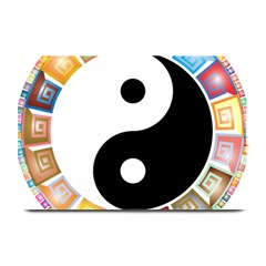 Yin Yang Eastern Asian Philosophy Plate Mats