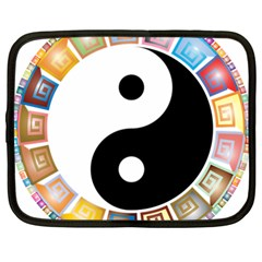 Yin Yang Eastern Asian Philosophy Netbook Case (Large)