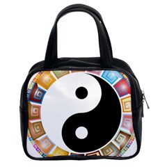 Yin Yang Eastern Asian Philosophy Classic Handbags (2 Sides)