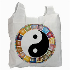 Yin Yang Eastern Asian Philosophy Recycle Bag (One Side)