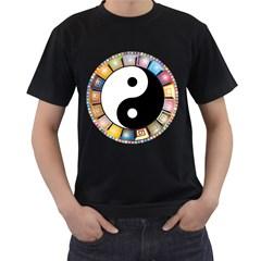 Yin Yang Eastern Asian Philosophy Men s T-Shirt (Black)