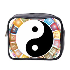 Yin Yang Eastern Asian Philosophy Mini Toiletries Bag 2-Side