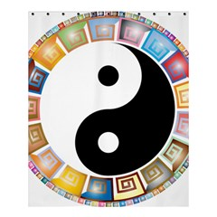 Yin Yang Eastern Asian Philosophy Shower Curtain 60  x 72  (Medium)
