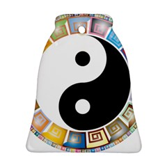 Yin Yang Eastern Asian Philosophy Bell Ornament (Two Sides)