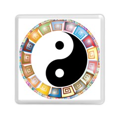 Yin Yang Eastern Asian Philosophy Memory Card Reader (Square)