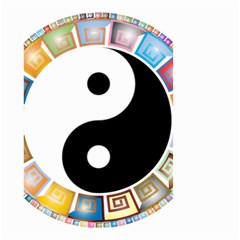 Yin Yang Eastern Asian Philosophy Small Garden Flag (Two Sides)
