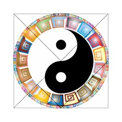 Yin Yang Eastern Asian Philosophy Acrylic Tangram Puzzle (6  X 6 )