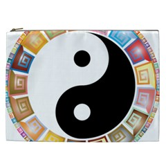 Yin Yang Eastern Asian Philosophy Cosmetic Bag (xxl)
