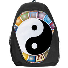 Yin Yang Eastern Asian Philosophy Backpack Bag