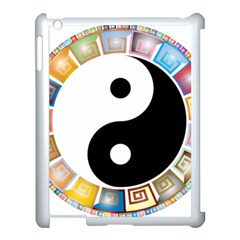 Yin Yang Eastern Asian Philosophy Apple iPad 3/4 Case (White)