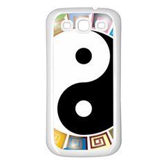 Yin Yang Eastern Asian Philosophy Samsung Galaxy S3 Back Case (white)
