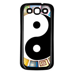 Yin Yang Eastern Asian Philosophy Samsung Galaxy S3 Back Case (Black)