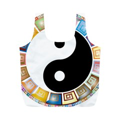 Yin Yang Eastern Asian Philosophy Full Print Recycle Bags (M)