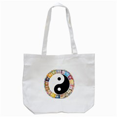 Yin Yang Eastern Asian Philosophy Tote Bag (White)