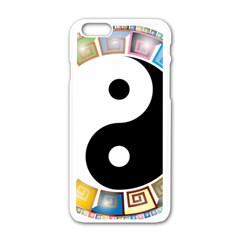 Yin Yang Eastern Asian Philosophy Apple iPhone 6/6S White Enamel Case