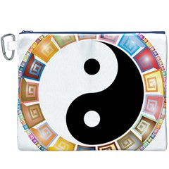 Yin Yang Eastern Asian Philosophy Canvas Cosmetic Bag (XXXL)