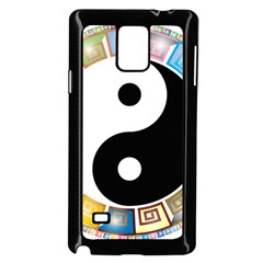 Yin Yang Eastern Asian Philosophy Samsung Galaxy Note 4 Case (Black)