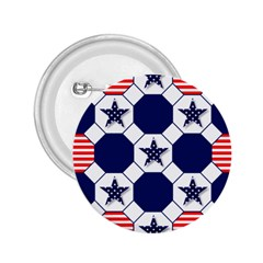 Patriotic Symbolic Red White Blue 2.25  Buttons