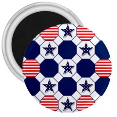 Patriotic Symbolic Red White Blue 3  Magnets