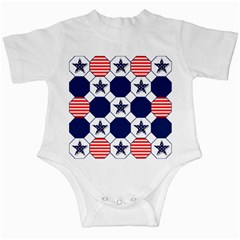 Patriotic Symbolic Red White Blue Infant Creepers