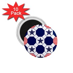 Patriotic Symbolic Red White Blue 1.75  Magnets (10 pack)