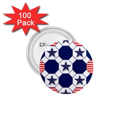 Patriotic Symbolic Red White Blue 1.75  Buttons (100 pack)