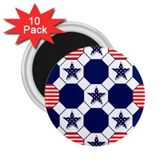 Patriotic Symbolic Red White Blue 2.25  Magnets (10 pack)