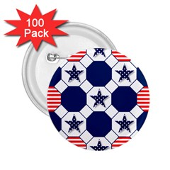 Patriotic Symbolic Red White Blue 2.25  Buttons (100 pack)