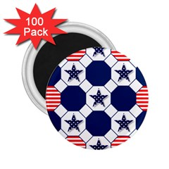 Patriotic Symbolic Red White Blue 2.25  Magnets (100 pack)