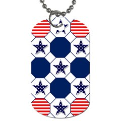 Patriotic Symbolic Red White Blue Dog Tag (One Side)