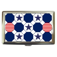 Patriotic Symbolic Red White Blue Cigarette Money Cases