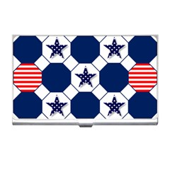 Patriotic Symbolic Red White Blue Business Card Holders