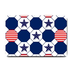 Patriotic Symbolic Red White Blue Small Doormat