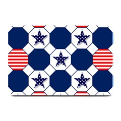 Patriotic Symbolic Red White Blue Plate Mats
