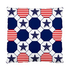 Patriotic Symbolic Red White Blue Standard Cushion Case (Two Sides)