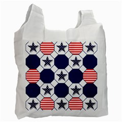 Patriotic Symbolic Red White Blue Recycle Bag (Two Side)