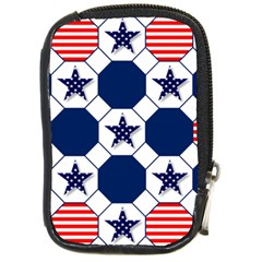 Patriotic Symbolic Red White Blue Compact Camera Cases