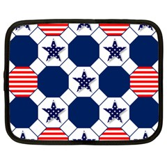 Patriotic Symbolic Red White Blue Netbook Case (XL)