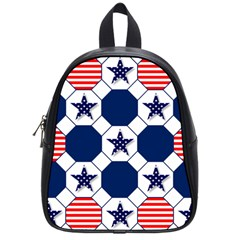 Patriotic Symbolic Red White Blue School Bags (Small)
