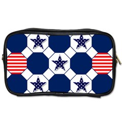 Patriotic Symbolic Red White Blue Toiletries Bags